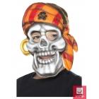 Pirātu galvaskausa dažādu neona krāsu maska