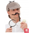 Šerloka Holmsa aksesuāru komplekts - cepure, pīpe, lupa