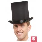 Augsta cilindra cepure melnā krāsā