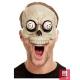 Skeleta pus-sejas maska ar kustīgām acīm