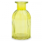 Dekoratīvā stikla pudelīte / vāze, 13.5 cm, dzeltena