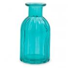 Dekoratīvā stikla pudelīte / vāze, 13.5 см., zilganzaļa