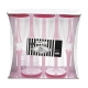 Vīna vai šampanieša plastikātas glāzes ar maigi rozā kājiņu, 100 ml. x 10. gab.