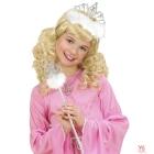 Princeses nūjiņa sudraba, ar baltām spalvām