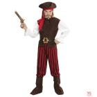 Karību jūras pirāts  (krekls ar vesti, bikses, josta, zābaku uzlikas, galvas josta, cepure) (116 cm/4-5 gadi)