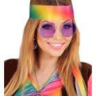 Hipiju brilles, septiņdesmito gadu stilā brilles  ar purpursarkanām lēcām
