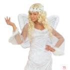 Eņģeļu spārni, komplektā lokani spārni ar spīdumiem un dzirkstošais marabū halo)