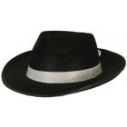 Gangstera cepure melna no filca Al Capone