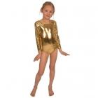 Bodijs sporta dejām zeltā 128 cm