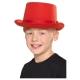 Cilindra cepure sarkana, bērnu izmērs