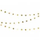 Zvaigžņu virtene, izgatavotas no zelta folija papīra. Garums aptuveni 3.6 m un augstums 5 cm.