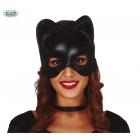 Karnevāla melna kaķa maska