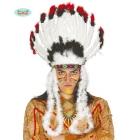 Indiāņu galvas rota, ar spalvām, krāsaina