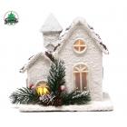 Dekorācija Ziemassvētku māja ar apgaismojumu
