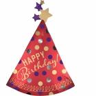 """Folijas hēlija balons """"Dzimšanas dienas cepurīte"""", Satins Lukss, izmērs 68 x 91 cm,"""