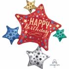 """Folijas hēlija balons """"Dzimšanas diena – zvaigžņu klasteris"""", izmērs 81 x 88 cm,"""