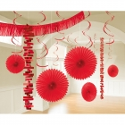 Dekorāciju komplekts Abols  sarkanais papīrs  18 daļas 274 cm 213 cm  55,8 cm