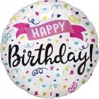Folijas hēlija balons Dzimšanas Dienai ar hologrāfisku spīdumu, izmērs 43 cm