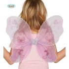 Tauriņa spārni rozā izmērs 48 x 35 cm
