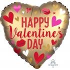 Sirds formas folijas hēlija balons Valentīna Dienas, satīns, 43 cm
