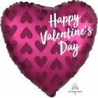 """Sirds formas folijas hēlija balons Valentīna Dienai """"Satin Infused Pomegranate"""", 43 x 43 cm, piepūšams ar hēliju"""
