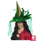 Raganas cepure, ar plīvuru un spalvām