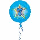 Zila folijas balons ar zvaigzne un ciparu 7 43 cm ar heliju