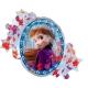 """Folijas hēlija balons """"Ledus sirds 2 – Elza un Anna"""", izmērs 76 x 66 cm,"""
