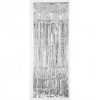 Durvju priekškara sudraba metāliskā plastika 243 x 91,4 cm