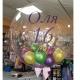Apaļš caurspīdigs gaiši dzeltens hēlija balons Crystal Clearz©, Izmērs 56 cm, piepūšams ar hēliju vai gaisu