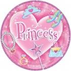 Тарелки с рисунком  призматические. Тема  - принцесса, 22.8 см, 8 шт