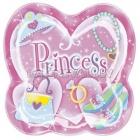 Пластиковая тарелка для пикника  - принцесса Plastic Snack Plate 22.8cm