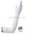 Перчатки с ликрой, белые, 60 см
