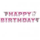 Бумажная гирлянда с днем рождения, Charmmy Kitty, 1.8 м X 11.2 см