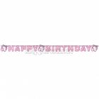 Burtu virtene no papīra dzimšanas dienas ballītei, Charmmy Kitty, 1.80 m X 11.2 cm