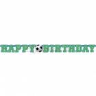 Бумажная гирлянда с днем рождения, Футбол, 1.56 м X 10.2 см