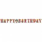 Бумажная гирлянда с днем рождения, Пираты, 2.1 м x 17.8 см
