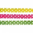 Бумажная мини гирлянда, цветы, 2.5 м