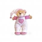Медвежонок для детской комнаты, розовый, 15 см