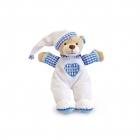 Медвежонок для детской комнаты, голубой, 15 см