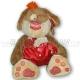 Собачка с сердечком, 30 см
