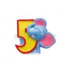 """Свеча - цифра для торта, """"5"""", Сафари, 8 см"""