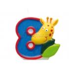 """Свеча - цифра для торта, """"8"""", Сафари, 8 см"""
