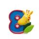 """8cm svece tortei, Safari,  Skaitlis """"8"""""""