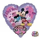 """Dziedāšanas muzikālās folijas balons Tema: I Like You!  28""""/71cm"""