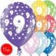 """12""""/30 cm lateksa baloni, 9 dzimšanas diena, assortimentā 8 dažādas krāsas, 15 gab."""