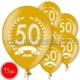 "12""/30 cm lateksa baloni, 50 jubilejam, 15 gab."