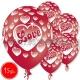 "12""/30 cm lateksa baloni, Milestiba, 15 gab."