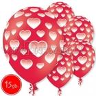 """12""""/30 см шар из латекса, Hearts, 15 шт."""