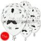 """12""""/30 cm lateksa baloni, Futbols, 15 gab."""